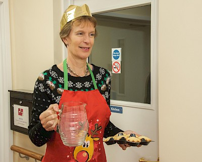 Caroline Billington helping out at an event on Christmas Day